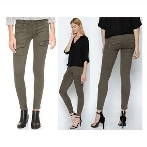 New Joie So Real Skinny cargo pants in fatigue